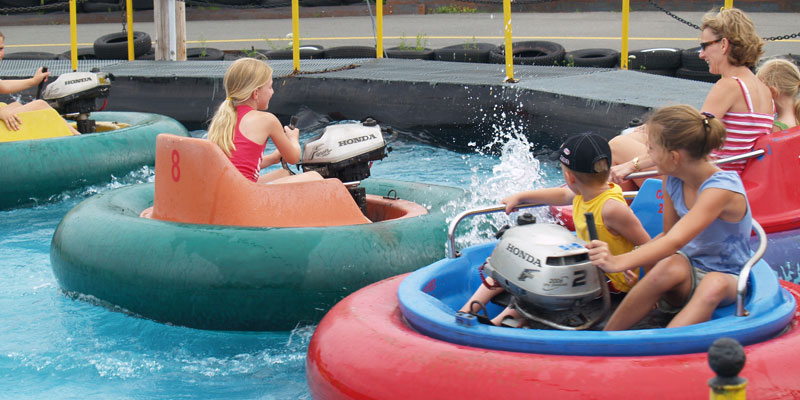 The perfect way to enjoy the summer weather - Bumper Boats!