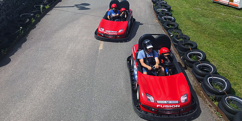 Take a spin on the Go Karts!