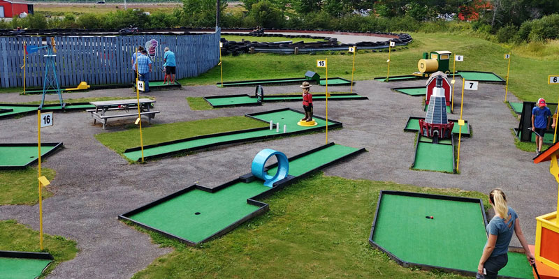 Try your hand at our 16-Hole Mini-Golf course!